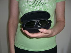 Polaroid polarised sunglasses in case
