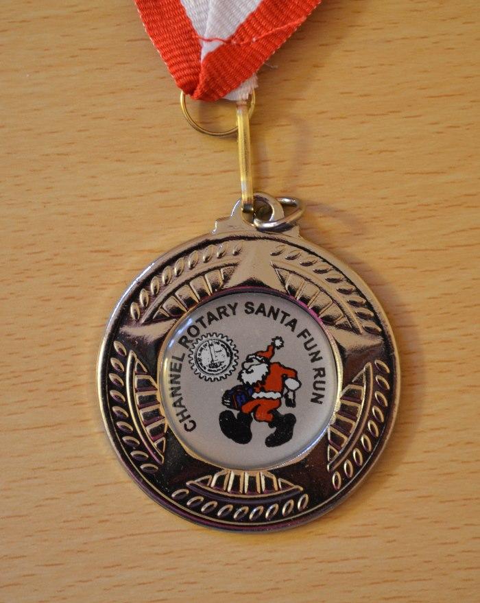 Folkestone Santa Fun Run 2014 Medal