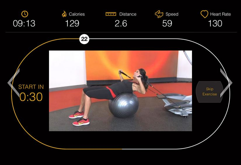 Strength training workout on the Smartlink app