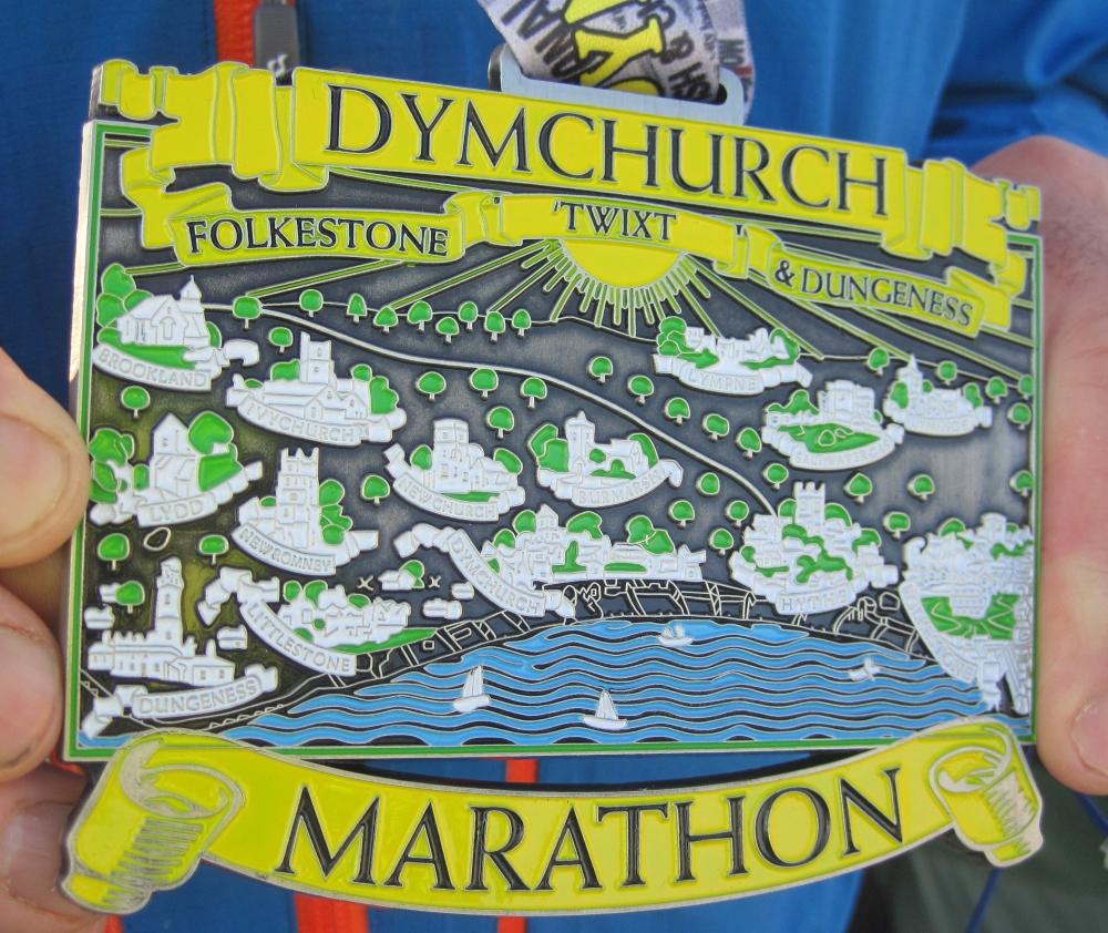 Dymchurch marathon medal 2014